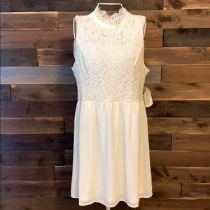 NWT Altar'd State White Size L Dress Lace Chiffon